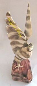 Hand Carved Animals Sculpture EAGLE Ukrainian Souvenir Handmade 100 Natural Wood