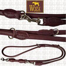 WOZA Premium Rundgenähte Hundeleine Vollleder Lederleine Rindnappaleder  HG283