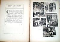 1915 VILLA AMBROSETTI A SORDEVOLO BIELLESE. VILLE E CASTELLI DI VITTORIO CICALA