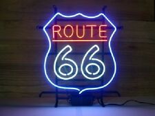 """New Route 66 Man Cave Game Room Beer Pub Neon Sign 17""""x14"""""""