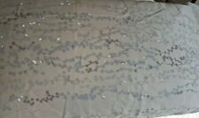 Calvin Klein ~ Gray Floral King Pillow Sham ~ 100% Cotton ~ Nwt