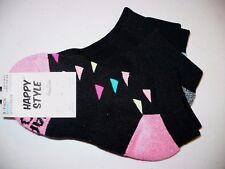 Happy Style Socks Sport Low Cut Socks 3 Pair Shoe Size 5.5-9.5 NEW #25