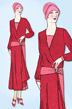 1930s Ladies Home Journal Sewing Pattern 6471 FF Plus Size Afternoon Dress 40 B