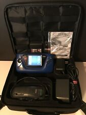 Sega Game Gear Blue Console W/Magnifier, AC Adaptor, Battery Pack, Case, 3 Games