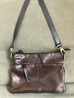 Tignanello Women's Handbag Purse Glazed Leather Brown Convertible Crossbody Bag
