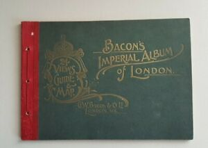 G.W BACON Imperial Views Of London 24 Views Guide & Map Early 1900s SB RARE