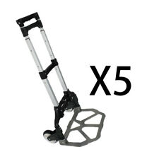5pcs Foldable Aluminium Folding Luggage Cart And Hand Truck Trolley Wheel 176lbs