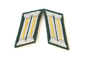 German Officer Collar Tabs - Yellow - Cavalry