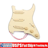 SSS Prewired Guitar Pickguard Alnico V Pickup sets for  ST Strat Guitar Replace