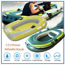 PVC Inflatable Fishing Rowing Boat Raft Canoe Kayak Air Boat Fishing Drifting