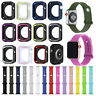Silicone Replacement Watch Case Cover Band Strap for Apple iWatch Series 4 3 2 1