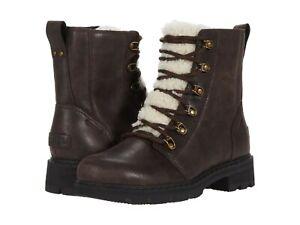 Women's Shoes Sorel LENNOX LACE COZY Winter Boots 1930961205 BLACKENED BROWN