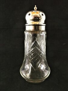 ANTIQUE SILVER MOUNTED SUGAR SHAKER HALLMARKED SHEFFIELD 1924 REF 62/1