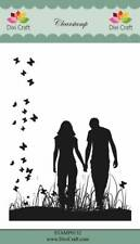 New Dixi Craft Clear Stamp Couple Holding Hands