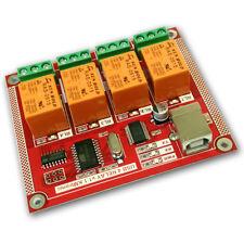 KMTronic USB 4 Canaux Carte Relais, RS232 Série contrôlée, PCB