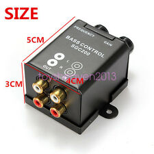 Car Bass Controller Adjust Level Volume Amplifier Subwoofer Equalizer Crossover