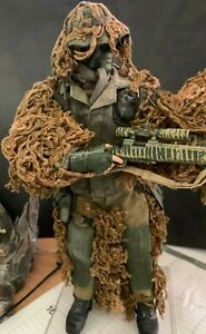 1/6 scale Hasbro BBI GI Joe Male USMC Sniper with ghillie suit