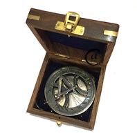 Christmas Beautiful Desktop Decor Gift Maritime Compass Nautical Sundial Vint