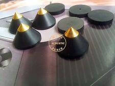 6Set Wood  HiFi Equipment Speaker CD Spike Isolation Stand Feet Base