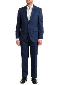 "Hugo Boss Men's ""Phoenix/Madisen"" Blue Comfort Fit 100% Wool Two Button Suit"