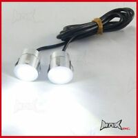 Bright White  Ceiling Down Lights Silver Alloy Casing 12 Volt LED'S Flush Mount