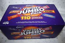 Cadbury VARIETY JUMBO PACK 110 Pieces 1.56kg Box