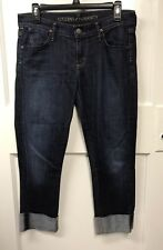 Citizens of Humanity Dani Rolled Cuff in Scorpio Crop Straight Stretch Jeans 28