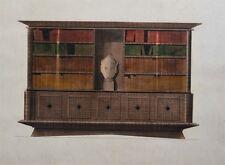 Gouache Originale - Projet Meuble des Années 50 - Art Décoratif