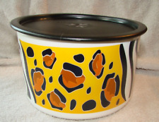 New Tupperware Austin Zoo Animal Crackers Canister Zebra Leopard Design Rare New