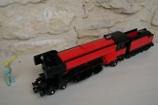 lego train emerald night 10194 with tender , modified .... black and red ....