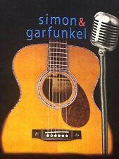 Simon And Garfunkel 2003 Old Friends Concert Tour 2XL Black T-Shirt Guitar