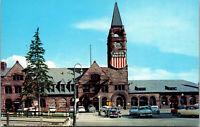 Vtg 1950's Union Pacific Railroad Train Station Cheyenne Wyoming WY Postcard