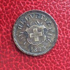 Suisse - Jolie et Rare monnaie de  5 rappen   1873