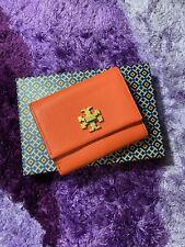 Authentic Tory Burch Kira Mixed Material Wallet - Red