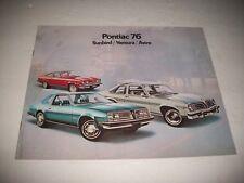 1976 PONTIAC SUNBIRD/ VENTURA/ ASTRE SALES BROCHURE. GM CANADA ISSUE