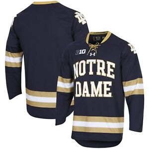 Notre Dame Fighting Irish Under Armour UA Replica Hockey Jersey - Navy