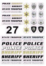 Police Cruiser Emblems Stickers decals 1/18