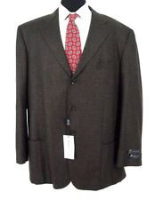 (52L) Alberto Zimni Lanificio di Pray Blazer Brown Check Sport Coat Italy 52 L