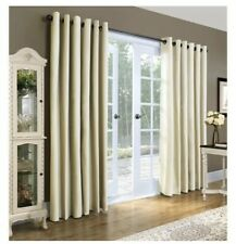 "Thermalogic Weathermate Grommet Curtain Panel Pair in Natural 160"" X 84"""