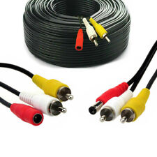 10M CCTV Camera Extension Cable Phono RCA AV Video DC Power Spy Security Lead HQ