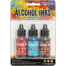 Tim Holtz Alcohol Ink .5oz 3/Pkg RODEO Crimson/Aquamarine/Sepia 58755 NEW
