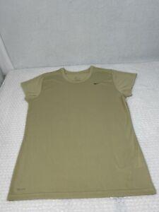 Nike Running Shirt Size XL Gold Womens Dri Fit Short Sleeve lightweight EUC