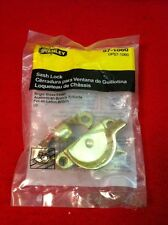 One (1) Window Sash Lock Stanley Hardware 57-1060 Bright Brass Finish NOS!
