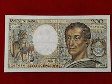 Billet 200 Fr Montesquieu 1982 Fay 70/2 Alph Y.009 SUP / XF !!