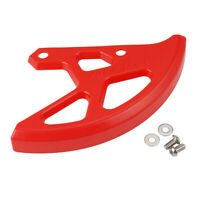 For CRF450RX 2017-2019 Rear Brake Disc Protector Cover Guard Red Plastic
