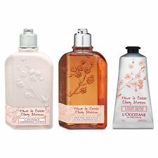 3 PCS SET L'Occitane Hand Cream + Bath & Shower Gel + Shimmering Lotion