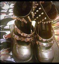 Demonia Sinister-59 61 62 64 Women's Platform Funky Shoes Chromed ABS Heel