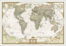Vintage World Map A3260gsm Poster