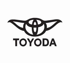 Toyota Toyoda Yoda Star Wars Vinyl Die Cut Car Decal Sticker - FREE SHIPPING