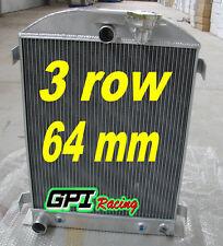 64mm 3 core FOR 1932 32 FORD HIBOY HI-BOY FORD engine aluminum radiator